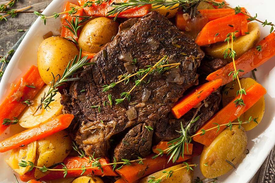 Beef Pot Roast with Turnip Greens