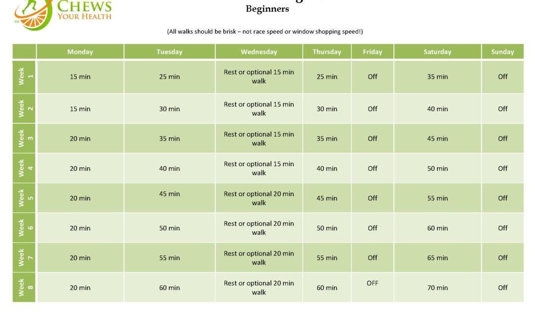 Beginners 8 Week Walking Plan