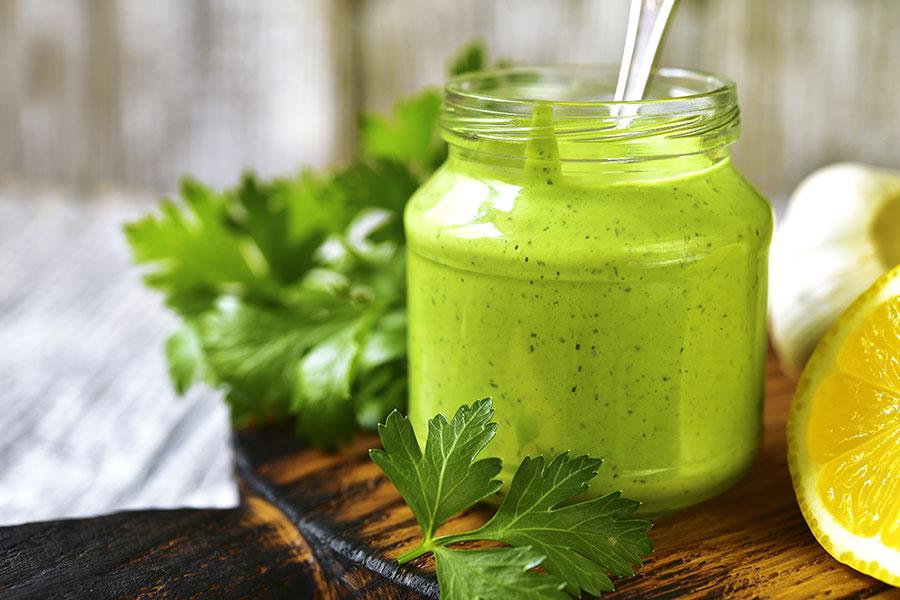 parsley-garlic-dip